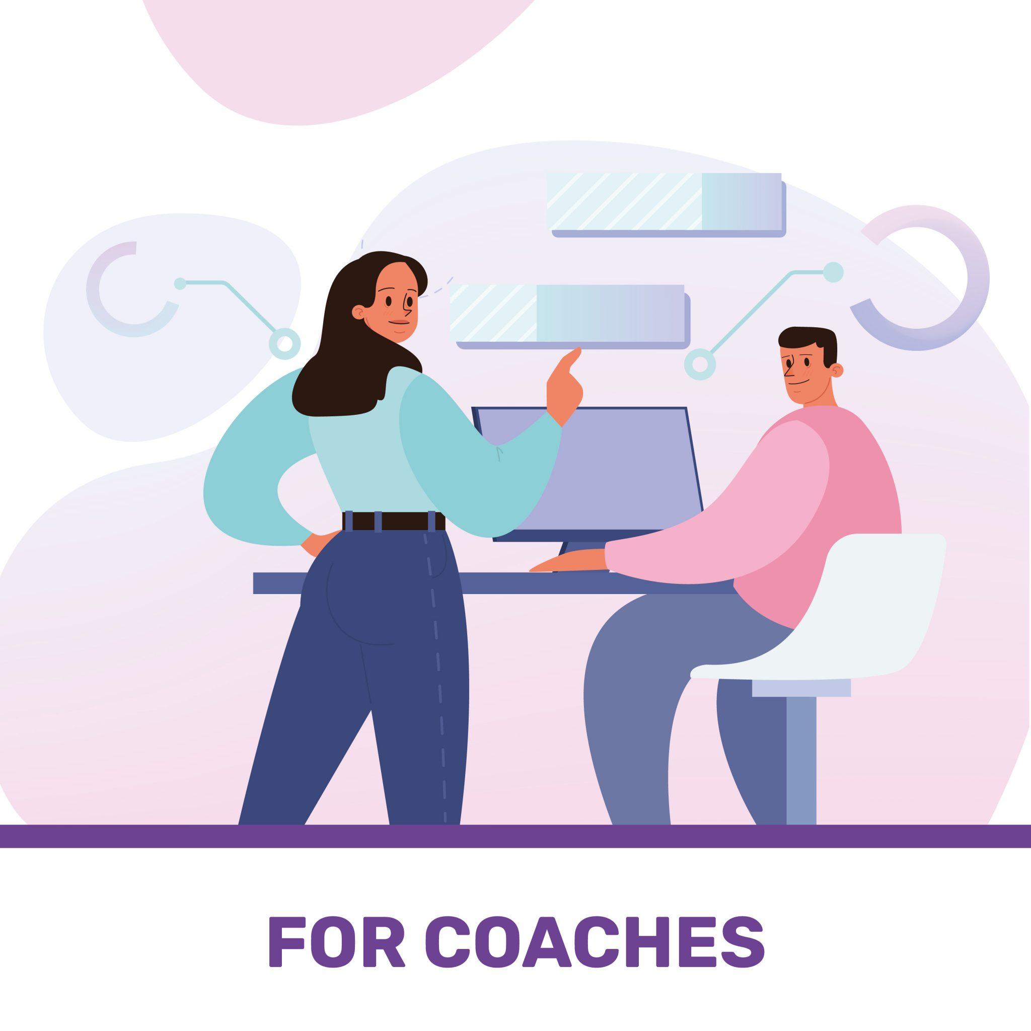 disegno di un team coach