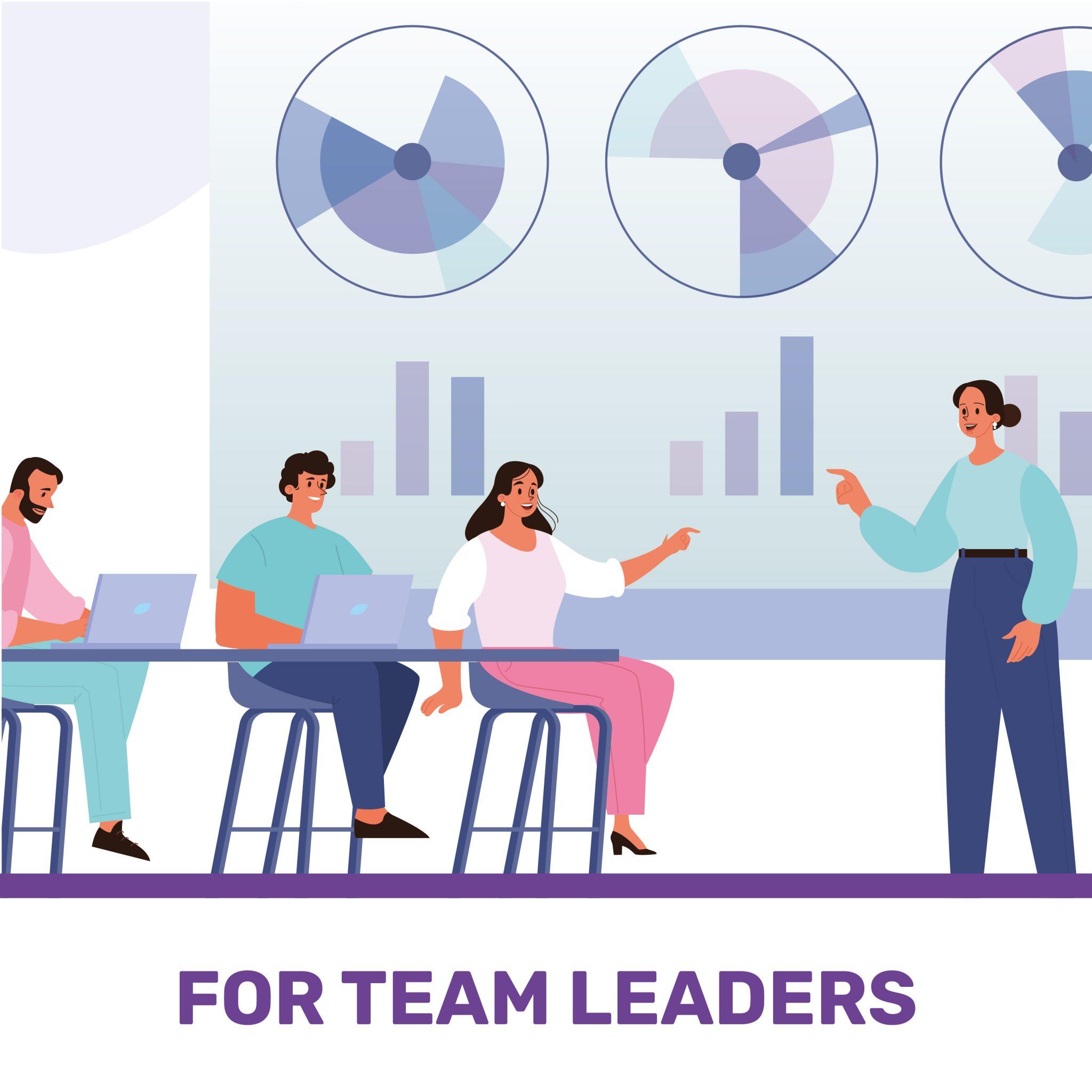 disegno di un team leader